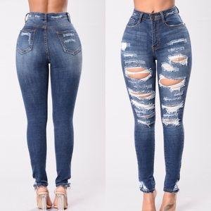 Fashion Nova Distressed Jeans
